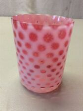 FREE SHIPPING!! ANTIQUE FENTON OPALESCENT GLASS TUMBLER Cranberry Coin Dot