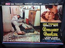 FOTOBUSTA CINEMA - ROMANZO POPOLARE - E. TOGNAZZI, O. MUTI - 1974 - COMMEDIA -01