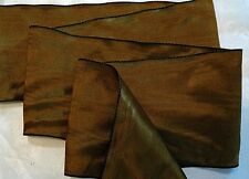 "3"" RAYON MOIRE' RIBBON - MADE IN GERMANY - CAMEL BROWN"