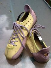 Diesel Arras  Athletic Leather Shoes/Size 7 /Yellow Leather w/Purple/Gently Used