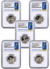 2016-S Clad Quarters - Set of 5 Coins NGC PF70 UC (First Day of Issue) SKU41481