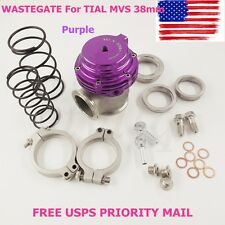 NEW WASTEGATE For TIAL MVS 38mm Purple V-BAND AND FLANGES MV-S FREE PRIORITY