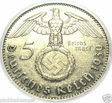 Germany - German Third Reich - German Silver 5 Reichsmark Coin - World War 2