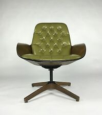 Mr. Chair by George Mulhauser for Plycraft Green / Walnut mid century lounge