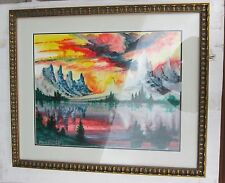 Fireball, Original Framed Oil on Paper Artwork by Dutch Master, William Verdult