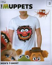 T-Shirt ANIMAL das Tier Lizenz Shirt weiß Disney Muppet Show The Muppets  Gr.M
