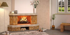 Wood Burning Fireplace Palma, Made in Italy, With Cast Iron Insert