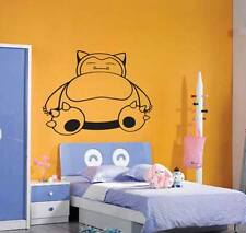 Snorlax Pokemon Wall Art Vinyl Decal Sticker Removable Cartoon Character Catch