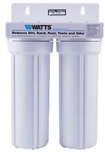 WATTS 2 Stage Whole house water filter Sediment Carbon Hydroponics Aquarium Fish