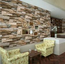 """Realistic Real Stacked Brick Stone Vinyl Background Wallpaper 20.8"""" x 393.7"""" X チ"""