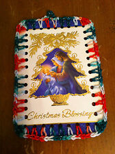 handcrafted crocheted one-of-a-kind  Ornament Christmas Blessings Card Jesus