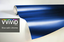 VVIVID8 blue chrome satin matte car wrap vinyl 100ft x5ft conform stretch 3MIL