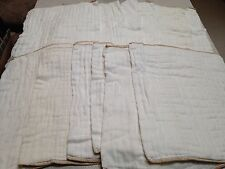 12 Cloth-eez size large cotton prefolds Green Mountain Diapers GMD dozen brown