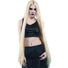 """Ladies 40"""" Long Straight Blonde Wig Rapunzel Barbie Cosplay Fancy Dress"""