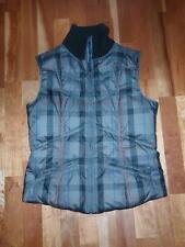 Womans TOMMY HILFIGER VEST Medium DOWN FILLED Puffy Zips Up Gray Blue Red WASHAB