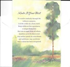Tall Pine Tree Nature Theme Encouragement Greeting Card By Freedom Greetings