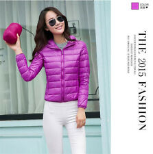 Women's Lady Girl  Duck Down Feather Ultralight Jacket Hooded Padded Coat
