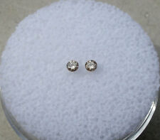 Champagne diamond round pair 2mm each