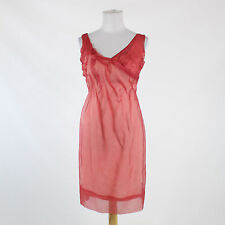Pink 100% silk BCBG MAX AZRIA RUNWAY sheath sleeveless knee-length dress 4