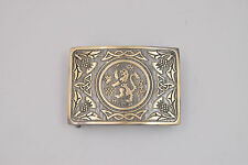 MEN SCOTTISH KILT BELT BUCKLE RAMPANT LION ANTIQUE FINISH