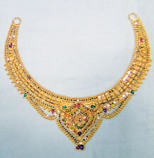 Gold Necklace choker 22K Gold Handmade fine jewelry wedding Indian Jewellery