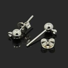 20x Nickel Free Silver Color Brass Post Earring Ear stud Components X-EC593-NFS