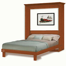 6-Panel Door Queen Murphy /  Wall Bed Woodworking Plans, 4QDWB
