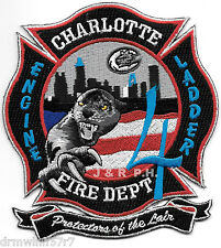 "Charlotte  Station-4, NC  ""Protectors of the Lair"" (4"" x 4.5"") fire patch"