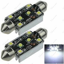 2X 44MM 4 SMD 1210 + 2 CREE LED Interior Light Bulb Canbus Error Free Auto ZI354