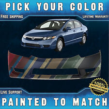 NEW Painted To Match Front Bumper Cover for 2009-2011 Honda Civic Sedan / Hybrid
