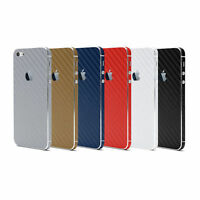 3D Carbon Fiber Full Body Vinyl Wrap Sticker Skin Cover Apple iPhone 4 4S 5 5S