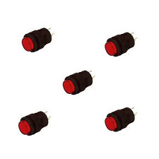 5Pcs 16MM Momentary push button switch with Red LED lighting 4Pin 3A  Cheap