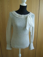 Deaner@White tricot pull large