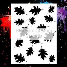 Camo Oak Leafs Large Airbrush Stencil,Template