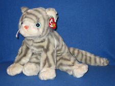 TY SILVER the CAT BEANIE  BUDDY - MINT with MINT TAGS