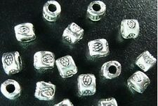 500 Pcs Tibetan Silver floral barrel spacer beads FC404