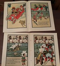 4 color prints by Denslow Auto Pirate car   (1st wizard of oz artist)  1908