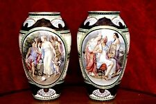 A Pair of Antique Royal Vienna Porcelain Hand Painted Vase 1744 to 1749