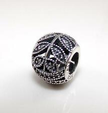 Pandora Sterling Silver Sparkling Leaves Bead Charm