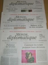 LOT 3 JOURNAUX / LE MONDE DIPLOMATIQUE N° 695-696-697 / FEV, MARS, AVRIL 2012
