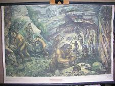 Schulwandbild Wandbild Altmensch Frühmensch Homo Sapiens Neanderthaler 109x75cm