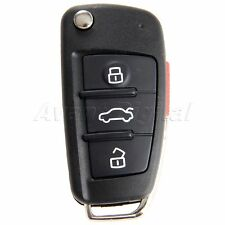 Uncut Blade Car Remote Key Fob Shell Replacement Case For Audi A6 A4 A2 A8 TT Q7