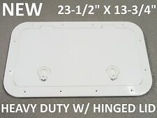 "NEW Boat Access Hatch White 23-1/2"" x 13-3/4"" HD Hinged Lid Water Tight 12797"