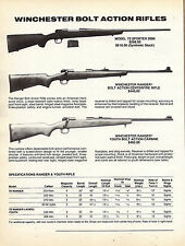 1994 WINCHESTER Model 70, Ranger & Youth Bolt Action Rifle Ad w/ specs & prices