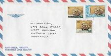 BD189) Penrhyn OHMS Air mail cover bearing: Sailing. Price: $6