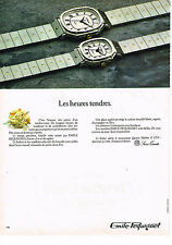 PUBLICITE ADVERTISING 024   1980   EMILE PEQUIGNET   collection montres heures t