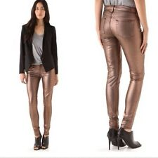 7 SEVEN for all MANKIND Skinny Jeans, Metallic Copper, Sz 26, NEW NWT