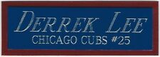 DERRICK LEE CUBS NAMEPLATE FOR AUTOGRAPHED Signed Baseball Display CUBE CASE