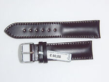 FLUCO (Germany) Genuine Italian Shell Cordovan Leather Watch Band 22 mm Brown