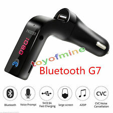 G7 Bluetooth Car Handsfree FM Transmitter Radio MP3 Player USB Charger & AUX BLK